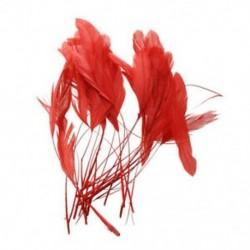30 db festett kakas kagylótoll - 4,3 - 7,5 hüvelykes piros Z1S2