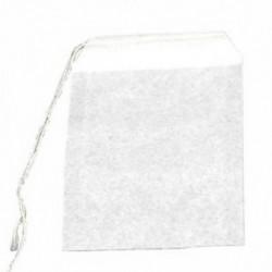 50 db teászacskó húros hőtömítő szűrőpapír Gyógynövény laza teás táska fehér N5G8 K3D0