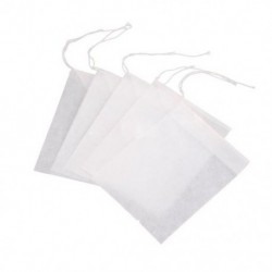 100 db eldobható üres teás tasak húros hőtömítő szűrőpapír H3Q5