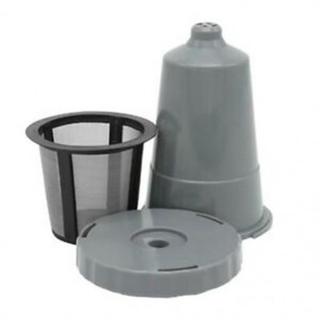 1X (3 csoport újrahasznosítható kávészűrővel felszerelt háló kapszula tok cseppcsésze modell - szürke O3O1