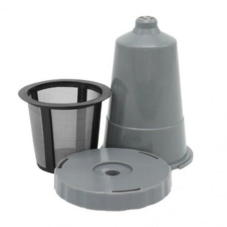 3 csoport újrahasznosítható kávészűrővel felszerelt hálószemű kapszula tok cseppcsésze modell - szürke (1 H2C1
