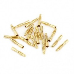 2mm Inner Dia Male Banana Plug Bullet Connector Replacement 20 Pcs Y5G0
