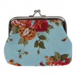 Vászon Hasp pénztárca kulcstartó táska (kék) O5U3
