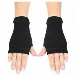 1X (fekete elasztikus fésült pamut ujjatlan kesztyű Női O9Y2)