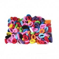 90 db / csomag elasztikus cukorka színű kislány törölköző hajkötelei gyerekeknek Ban S6E2