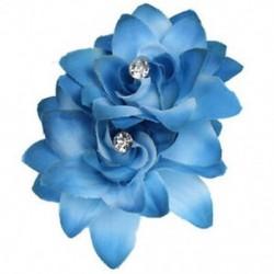 kék - Női divat virágos hajcsipesz hajtű menyasszonyi esküvői party haj Accessori A1B7