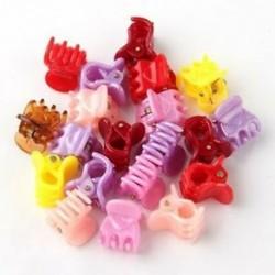 20 színes ABTorted mini kicsi műanyag hajcsipesz karom bilincsek BT
