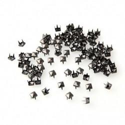 100 5 mm-es piramis sötétszürke szegecs szegecsekkel, DIY Leathercraft kézitáskákkal, Brace R3S7