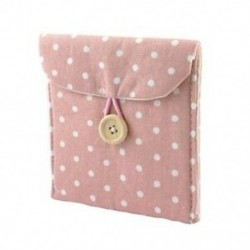 Lady puha pamut keverékű pöttyös egészségügyi betét tartó táska rózsaszín fehér Z9N2