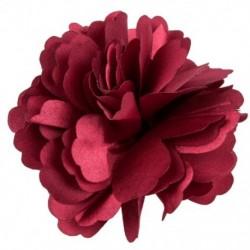 2X (női lányok szatén bazsarózsa virág hajcsat bross - Claret X1K7)