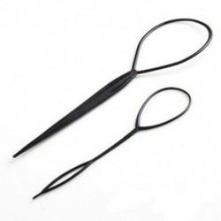 2X (2 db topsy farok hajformázó haj stílusú Twister Snare Loop fekete J2I3)