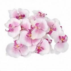 Sok 20db-os, 9 cm-es pillangó orchidea virág művirág díszítéssel a W G6O6-hoz