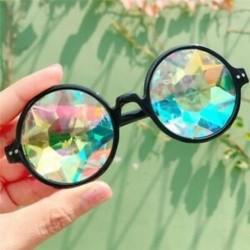 Fekete Kaleidoszkóp napszemüveg - Trendi unisex viselet - W1Y6