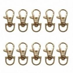 1X (arany tónusú fém kézitáska szíjdíszes tapadókorongos homárkapcsoló 10 db P4G3)