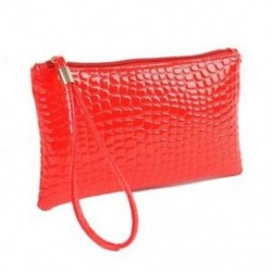 Piros - Női luxus krokodilbőr érme pénztárca váll-tengelykapcsoló Messenger kézitáska K2W4