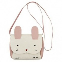 Kislány pénztárca Aranyos nyúl válltáska Mini Crossbody táska (fehér) Y6D2