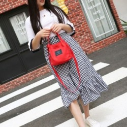 Divatos női vászon kézitáska, válltáska, bőrönd, aranyos utazási vödör b8T7