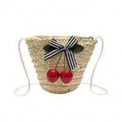 1X (Mini Wrap Bag női nyári szalma Rattan szőtt táska Crossbody Woven Beach K2R2