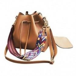 1X (Női táska színes szíjjal vödör táska női PU bőr válltáskákkal R3F1