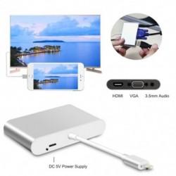 1x HDMI VGA AV adapter-átalakító, 2019 legújabb verziója 4 az 1-ben   Digtal AV adapter az iPhone X / 8 / 8Plus / 7 / 7Plus