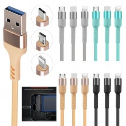 1x 3az1-es USB-kábel 8-pólusú mikro-USB C típusú töltőkábel iPhone X Samsung S9 töltőkábelhez Mikro USB-töltő
