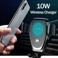 1x 10W QI vezeték nélküli gyors töltővel felszerelt autós tartóállvány iPhone XS Max Samsung S9-hez