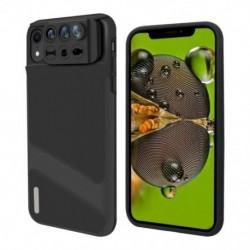 1x iPhone XR lencse, 3 az 1-ben telefonos kamera lencse halszem szuper széles látószögű makró lencse telefonvédő tokkal