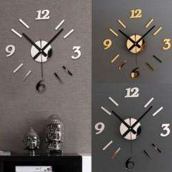 1x DIY 3D akril tükör hatású falióra kreatív fali matrica nappali óra otthoni dekoráció