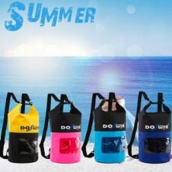 1x Vízálló táska tároló kompressziós zsák cipzáras tárolótasakokkal, biztonságos zseb a csónakázáshoz utazás