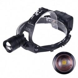 1x Fényszóró, USB, újratölthető vízálló 3 üzemmódú USB töltőkábel, LED zoomlámpa kültéri kempinghez