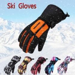 1 pár Téli síkesztyűk Vízálló meleg lovagló kesztyűk szánkózás sielés snowboard