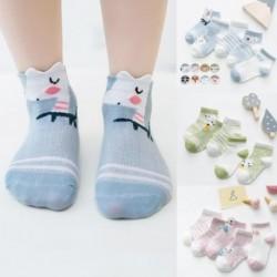5 pár csecsemő pamut zokni Fiúk lányok gyerekek aranyos nyári háló vékony baba zokni