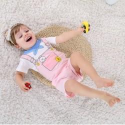 3 db-os szett újszülött baba nyári póló és nadrág szett lány