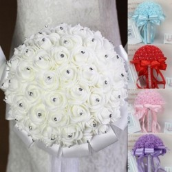1x kézzel készített rózsa csokor esküvői parti kiegészítő dekoráció