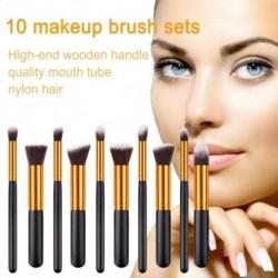 10db színes kozmetikai alapozó szemhélyárnyaló smink ecset kefe szett készlet