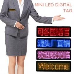 1x Mini LED digitális programozható újratölthető név Üzenet címke jel tábla