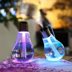 1x USB izzó alakú légnedvesítő ultrahangos aroma illóolaj diffúzor hideg-köd légtisztító otthoni irodai autóhoz
