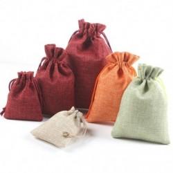1x Színes vászon ajándék táska  tasak esküvői karácsonyi születésnapi partikellékek száraz virág cukorka táska DIY