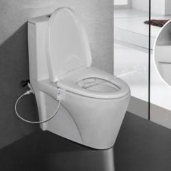 1x Fürdőszobai intelligens WC-bidek Öntisztító bidé Vízpermet üléskészlet Nem elektromos készlet Új