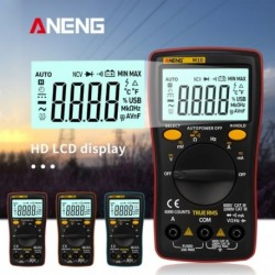 1x  ANENG M10 LCD digitális multiméter 6000 szám háttérvilágítás AC / DC Ohm mérőeszközt 16 az 1-ben többfunkciós
