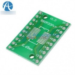 10db SOP20 SSOP20 TSSOP20-hoz DIP20 0,65 / 1,27 mm-es IC adapter PCB kártya tetejére