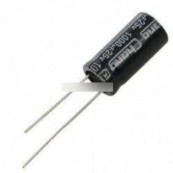 10db 1000uF 25V 10x20mm radiális elektrolit kondenzátorok 10mmx20mm