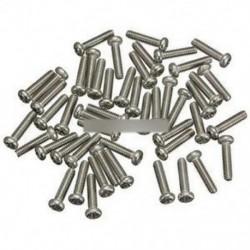50db M2X6mm csavarok rozsdamentes acél kerek fej sima metrikus gép