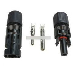 1 pár MC4 férfi női huzal PV kábel csatlakozó napelemes energiaadapter