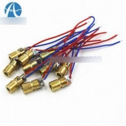 2db 650nm 6mm 3V 5mW lézerpontos dióda modul Red Copper Head Mini lézer pointer