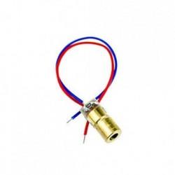 2db 650nm 5 mW lézeres piros pontmodul piros lézeres látószög lézerdiódás lézer mutató