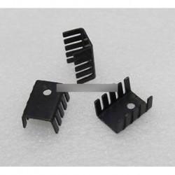 10db TO-220 hőcserélő fekete TO220 19x15x10mm IC hűtőborda alumínium jó
