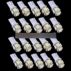 5db T10 5050 W5W 5 SMD 194 168 LED fehér autó oldalsó nyél hátsó lámpa 12X30m