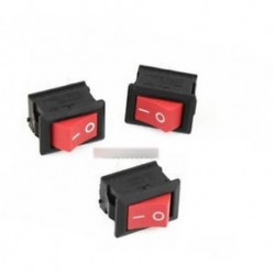 5db Red Rocker Switch 2 érintkező KCD1-101 250V 6A Boatlike Switch AL