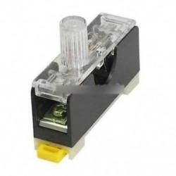 FS101 10A 6 * 30 mm-es biztosítékcsatlakozó jelzőlámpával DIN RAIL szerelt biztosíték
